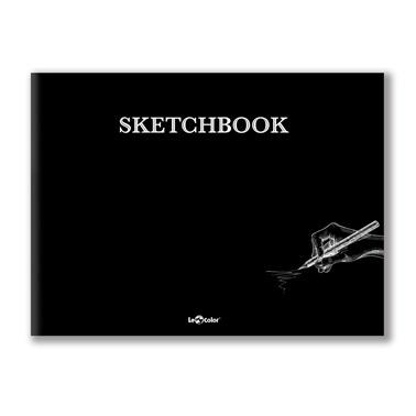 Le Color Sketchbook Düz Defter 20x27 Cm Siyah 96 Sayfa Renkli